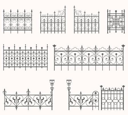 Antique fences - second set Stock Vector - 21515719