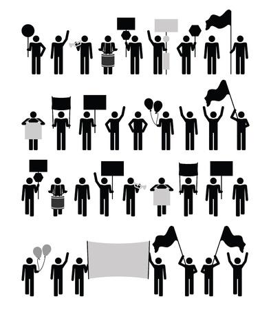 Protesta - colección pictograma Ilustración de vector