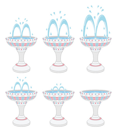 Fountains with different water pressures Stock Vector - 24632978