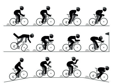 bicyclette: Vélo de course pictogramme Illustration