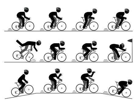 bicyclette: V�lo de course pictogramme Illustration