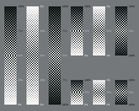 gradient: Dotted, seamless and precise gradient background patterns