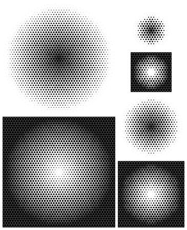 Undurchsichtige radiale Gradienten in der die meisten perfekt dichte Anordnung