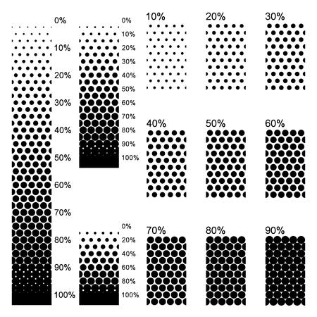 gradients linéaires Opaque dans l'arrangement le plus parfaitement dense Vecteurs