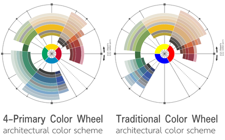 Color schemes for architects and interior designers. Illustration