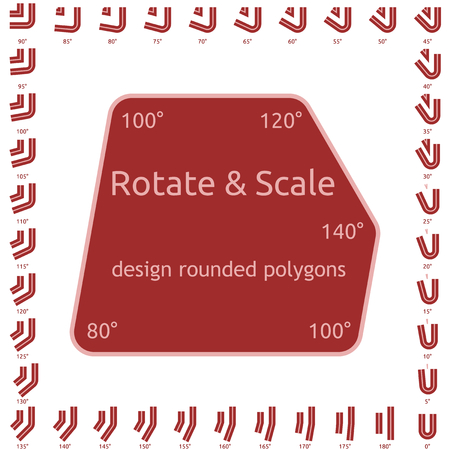 Design rounded polygons Illustration