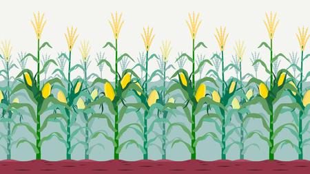 Seamless isolated cornfield vector design. Vectores