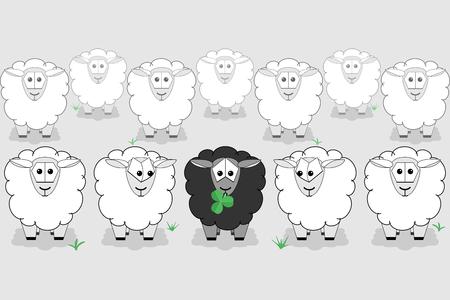 Le mouton noir est différent du reste du troupeau.
