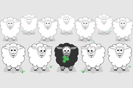 Black sheep is different from the rest of the flock.