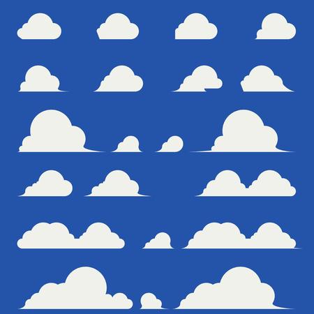 Flat design of elegant cumulus clouds