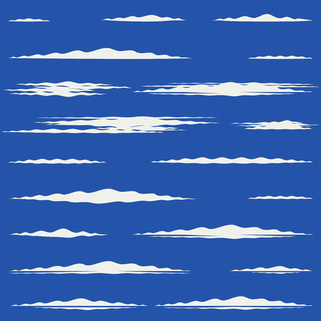 Flat design of lengthwise cirrus clouds