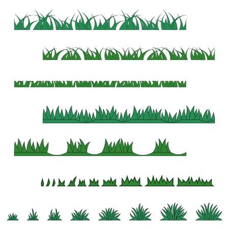 Collection d'herbe de divers types Vecteurs