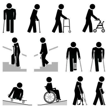 People with walking difficulties use different types of mobility aids