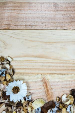 potpourri: potpourri on wood background