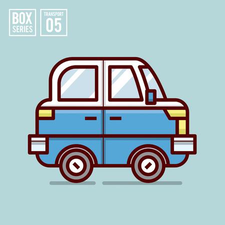 cars on road: transport illustration for website, publication, info graphic, etc. Illustration