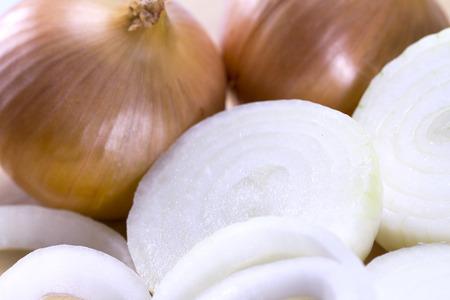 onion rings: Fresh sliced onion Stock Photo