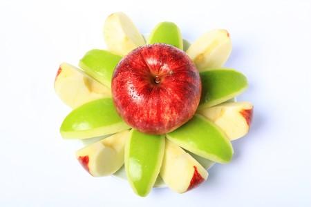 Red & Green Apple freshness is Fruit skin health
