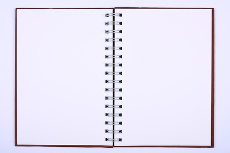 blank notebook & white paper for take notes photo