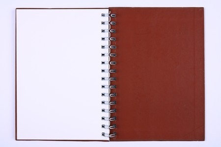 blank notebook & white paper for take notes, Last Page photo