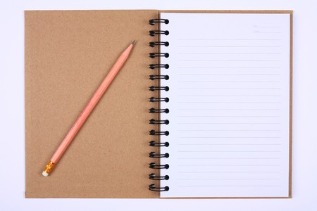 recycle notebook with pencil for environment and the earth, First Page photo