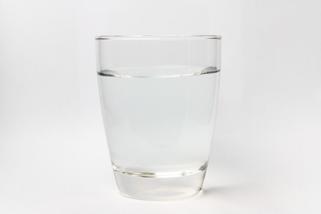 clear glass for beverage or etc on white background