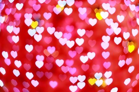 roze defocused hart achtergrond (Bokeh) voor liefde