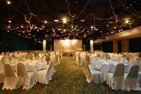 bruiloft Chinese stijl op Licht schijnt in het hotel