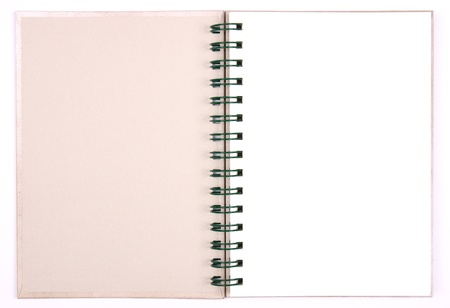 blank notebook first page & white paper for take notes photo