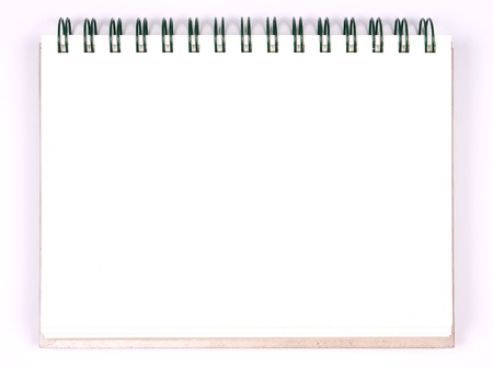 blank notebook single page, white paper for take notes photo