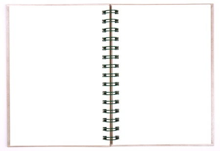 blank notebook white paper for take notes (isolate) photo