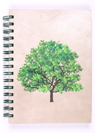 recycle notebook for nature environment and the earth (isolate) photo