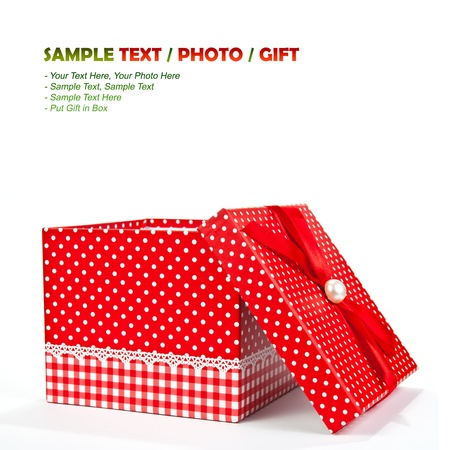 Red gift box on Isolate Stock Photo