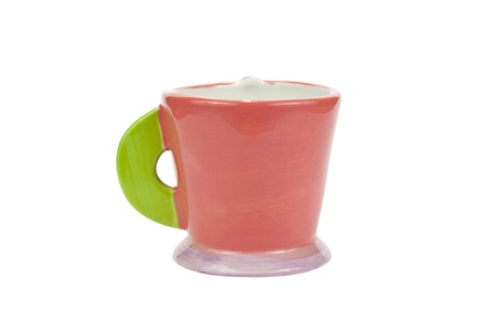 Cute cup on white background, isolate Stock Photo