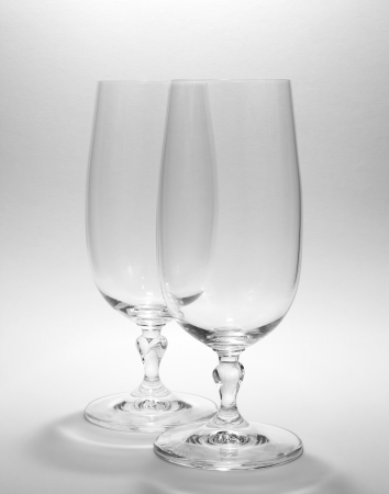 dual: dual wine glass on white background