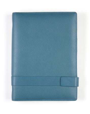 blue notebook on white background, isolate Stock Photo