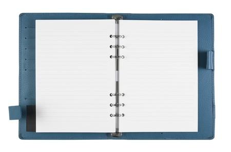 blank blue notebook on white background, isolate Stock Photo