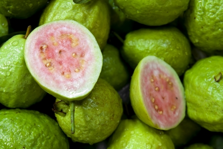 red guava fruit in the market Stock Photo