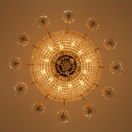 classic chandelier vintage style for background photo