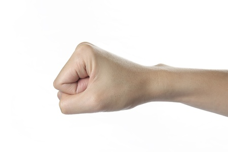 beautiful man hand for confidently feeling on white background, isolated Stock Photo - 19787534