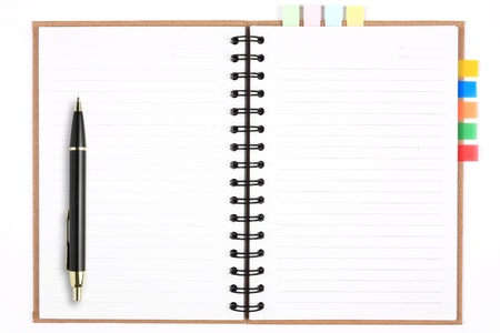 blank recycle notebook with pen & bookmark for environment and the earth Stock Photo