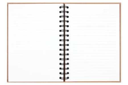 blank recycle notebook isolated on white