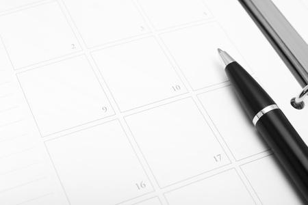 Empty calendar with pen for mark Stock Photo - 19787708