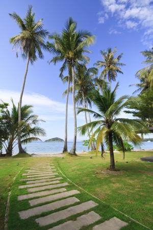 Mark Island Beach at Trat on Clear Sky, Thailand