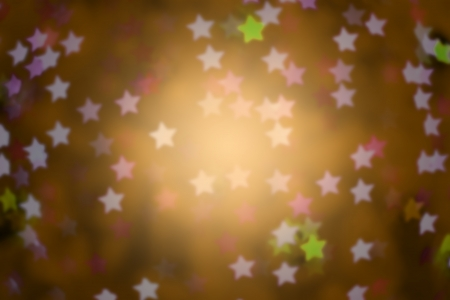 yellow defocused star background (Bokeh) for festival, blur focus photo