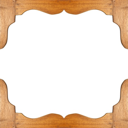 tableau: ancient wooden frame for your ideas on white