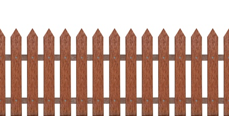 wooden partition: traditional fence for background or your ideas on white, isolated