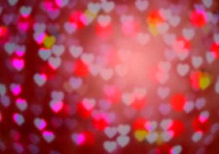 pink defocused circle heart background (Bokeh) for love