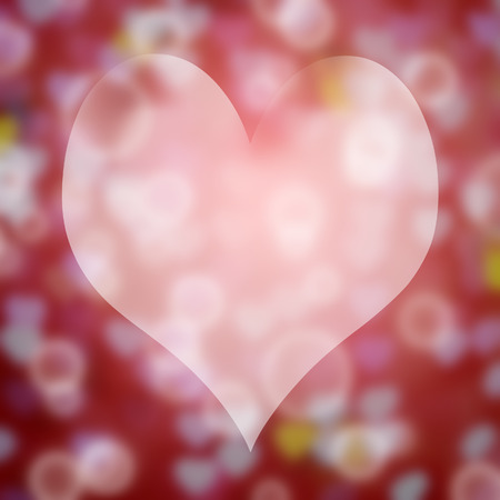 Abstract heart on bokeh background for love photo