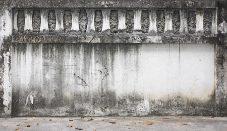 old wall on street for background Stock Photo
