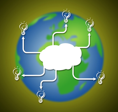 success network of immovable property on earth background